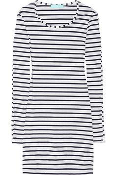 Melissa Odabash Jamie striped stretch-jersey mini dress