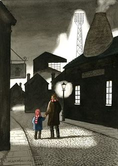 """Another Sid Kirkham picture. """"Me and my dad and Stoke City. Old Pottery, Pottery Art, Dungeon Maps, Stoke City, Football Art, English Artists, Stoke On Trent, Art For Art Sake, Local Artists"""