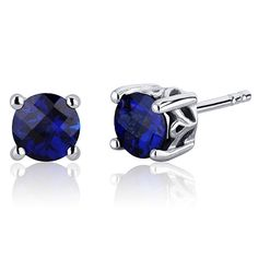 MSRP: $124.99  Our Price: $69.99  Savings: $55.00    Item Number: SE7954    Availability: Usually Ships in 5 Business Days    PRODUCT DESCRIPTION:    Ceylon Blue Hue with Brilliant Sparkle, Lab Created Blue Sapphire in Sterling Silver Round Stud Earrings are essential for any girl's jewelry collection. These gorgeous studs are fashioned into sleek sterling silver four-pronged mount. Fit is secure and comfortable with post-tension earrings backs.    Blue Sapphire makes a wonderful gift for…