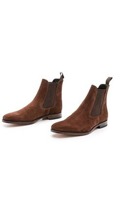 Loake 'mitchum' Brown Suede Chelsea Boot Size 10.5 $225 - Grailed