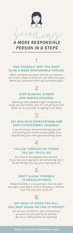 How To Become A More Responsible Person In 6 Steps   How To Adult In Your Twenties   How to Take Responsibility for Your Life   How To Change Your Actions   Changing Your Mindset   Personal Growth & Development   Mindfulness Advice For Millennials   Self-Discovery   Self-Acceptance   Wholehearted Woman   #selfawareness   #personalgrowth