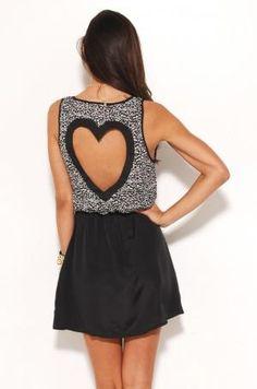 Reverse heart dress. So cute!