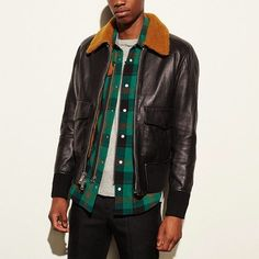 Coach Leather Bomber With Shearling Collar Size S $950 - Grailed