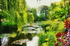 Photo painted In the style of Claude Monet with Dynamic Auto painter from Mediachance. Monet v.4 preset