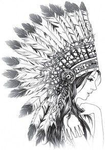 Zendoodle Indian Headdress - Google Search