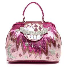 Take your bag collection to outer space with this stellar space themed handbag. This multi faceted bag has glitter appliqué, silver trinkets, an iridescent Saturn with magnetic clasp, handle and detachable strap and inside zip pocket. Irregular Shoes, Irregular Choice, Cheap Purses, Purses For Sale, Disney Purse, Diy Handbag, Stiletto Shoes, Vintage Handbags, Beautiful Bags