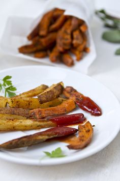 Thai Spiced Baked French Fries | FamilyFreshCooking.com