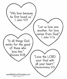 Love Bible Verses for Kids!Bible Memory for Valentine's Day! A collection of LOV. Love Bible Verses for Kids!Bible Memory for Valentine's Day! A collection of LOVE Bible verse for Sunday School Activities, Sunday School Lessons, Sunday School Crafts, Bible Verses For Kids, Bible Verses About Love, Valentine Coloring Pages, Bible Coloring Pages, Preschool Bible, Bible Activities