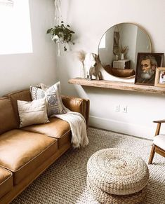 Tan Leather Sofa | Timber Charme Tan Sofa | Article