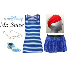 """""""Disney Mr. Smee Running Outfit"""" by mamaspartydress on Polyvore"""