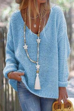 Loose Sweater, Ribbed Sweater, Pink Sweater, Womens Knit Sweater, Tunic Sweater, Blue Sweaters, Sweaters For Women, Knit Sweaters, Sweater Knitting Patterns