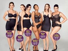 BRAVO M S! Models of all shapes and sizes strip off for Marks Spencer 'sexy shapewear' advert Spencer, Img Models, Plus Size Magazine, Model Magazine, Size 8 Body, Size 12, Corset, Lingerie Shoot, Hot Lingerie