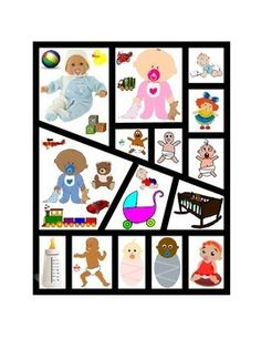 Babies Following-Directions. Comprehension Emergent-Reader Printable. Critical Thinking, Puzzle Game, Playtime. Cut Out, Mix Up, Put Together. 2 pages. Great Reading Journal Supplement for Reading Intervention, Reading Fluency Skills, Comprehension, Word Work, Vocabulary Activity.