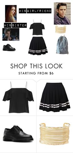 """""""ponyboy"""" by potterhead934draco ❤ liked on Polyvore featuring Toni&Guy, Fendi, Dr. Martens, Charlotte Russe and WithChic"""