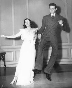 Rosalind Russell and James Stewart on the set of 'No Time For Comedy', 1940