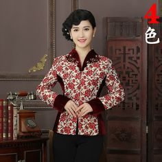 New Arrival High Quality Chinese Tradition Style Jackets Elegant Slim Jacket Coat Tang Suit Tops Plus Size L XL XXL XXXL 4XL R06 #Affiliate