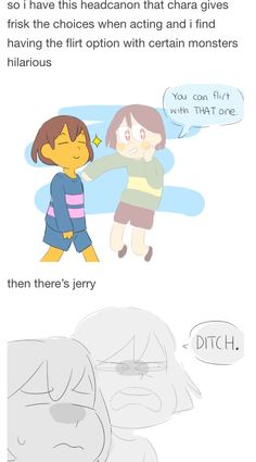 Undertale Chara and Frisk it's canon fight me
