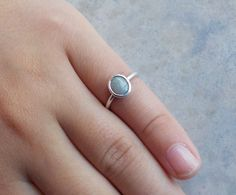 Solid Opal Ring Featuring Delicate Purple by AllAussieOpals