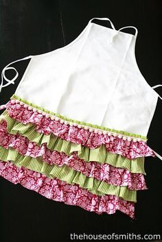 This ruffle apron would be a fun gift for a little girl on your Christmas list…