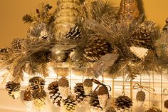 Create your very own custom colored holiday pine cone decorations.