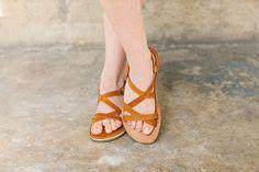 Brown Leather Gladiator Sandals – a unique product by crupon. Via en.DaWanda.com.