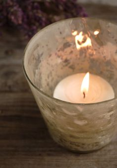 """4"""" Pearlized Mercury Glass Candle Holders for master bath;  edge of tub  $5.49 each / 3 for $4.99 each"""