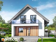 Dom w sasankach 4 Attic House, Narrow House, Houzz, Home Fashion, My House, Shed, Villa, Outdoor Structures, House Design