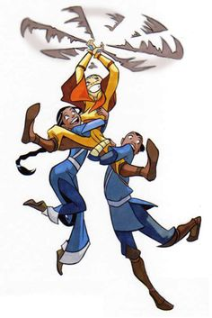 Aang Sokka and Katara, 3 best friends, also the greatest avatar ever. the new one that's coming out will NOT compare.