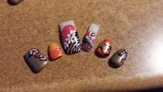 Some tropical nails ideas for this summer ;)