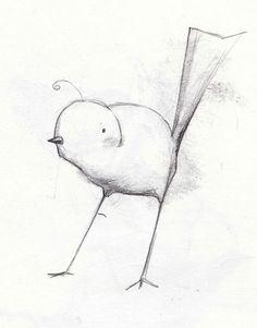 pencil bird sketch