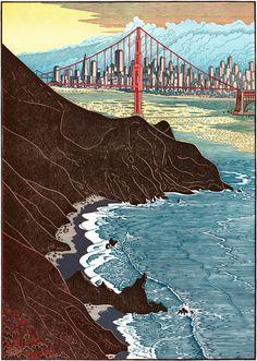Golden Gate Sunset II - Tom Killion