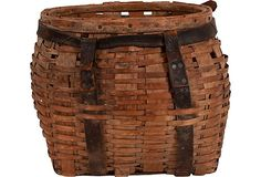 1930s Pack Basket - just the thing for a picnic in the woods.