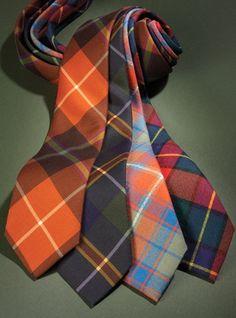 Silk and Wool Print Plaid Ties
