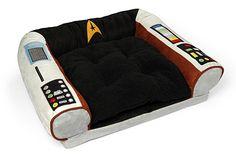 Star Trek Captain's Chair Dog Bed Will Put Your Pooch In Command Of StarFleet -  #dogs #pets #sleep #startrek