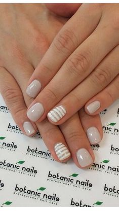 Simple Neutral and Minimal nail design