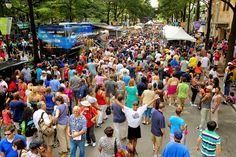 CarolinaFest, Charlotte's Labor Day street festival, in uptown September 3, 2012 in Charlotte, North Carolina.