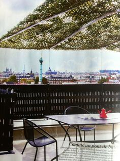 Idees terrasses on pinterest atelier camouflage and for Filet camouflage terrasse