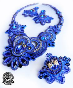 Blue soutache set
