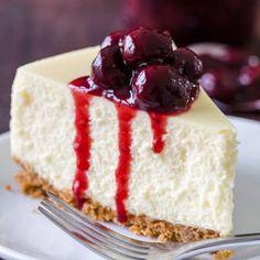 Recipes - NatashasKitchen.com Perfect Cheesecake Recipe, How To Make Cheesecake, Classic Cheesecake, Homemade Cheesecake, Pumpkin Cheesecake, Cheesecake Recipes, Dessert Recipes, Desserts, Strawberry Cheesecake