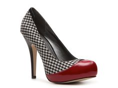 Perfect with my White House Black Market Wardrobe.....Madden Girl Flirrt Houndstooth Pump from DSW