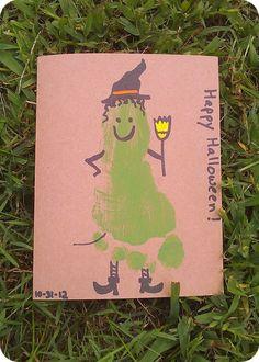 Oh Boy, Cato! - Halloween Footprint Idea, Witch