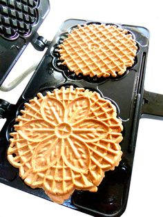 Pizzelle Basic Recipe with variations... I always do vanilla batch and anise batch... It's not Christmas without these!