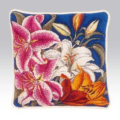 Regalia - Ehrman Tapestry Striking lily flower needlepoint design
