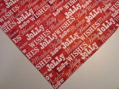 Dog Bandana/Scarf Cotton Unisex Christmas Red Wishes Joy Custom made by Linda   #CustommadebyLInda