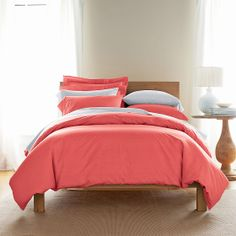 Our signature cotton percale helps keep your comforter clean -- and brightens your room, too. Solid duvet covers in any color you can imagine. The Company Store
