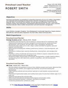 10 Resume Objective for Preschool Teacher 6 Sample Resume Templates, Teacher Resume Template, Resume Objective Examples, Resume Examples, Preschool Teacher Resume, Resume Summary, Entry Level Resume, Executive Resume, Teaching Skills