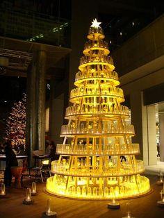 christmas tree - yellow led bottle