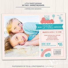 Spring Mini Session Marketing Board / Photography Marketing Board - Photoshop Template for photographers (DM24) - INSTANT DOWNLOAD