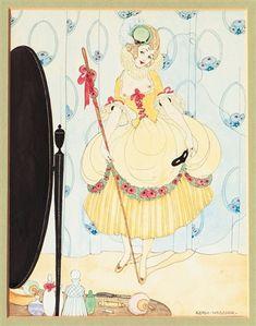 Lady in a low-cut Costume by Gerda Wegener c.1917