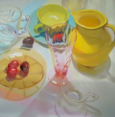 still life – oil on linen – Karen O'Neil, American painter, born 1960.